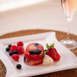 Champagne Jello with Fresh Berries