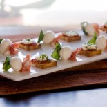 Mozzarella Skewers and Toasts with Goat Cheese