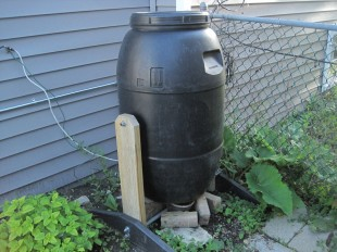 how to make a compost bin out of a barrel